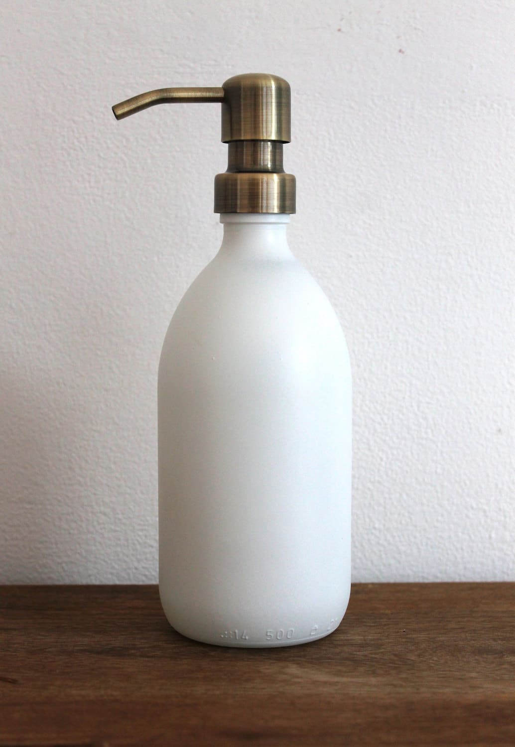 Metal Soap Dispenser Pump Matt White Glass Soap Dispenser Bottle With Stainless