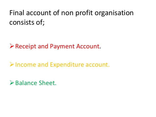 Notes on lesson on Accounting for Non Profit Organizations kullabs