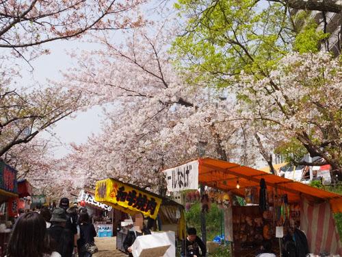 造幣局 桜の通り抜け 屋台