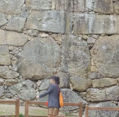 姫路城 石垣 人面石