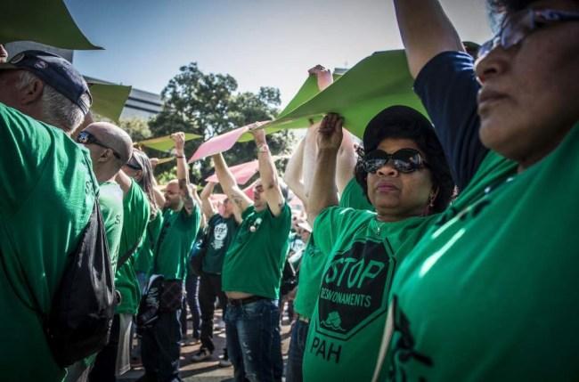 Plataforma en protesta. Foto Hugo Hernandez