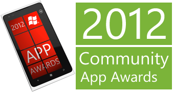 WP7 2012 Community App awards