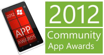 WP7 2012 Community App awards