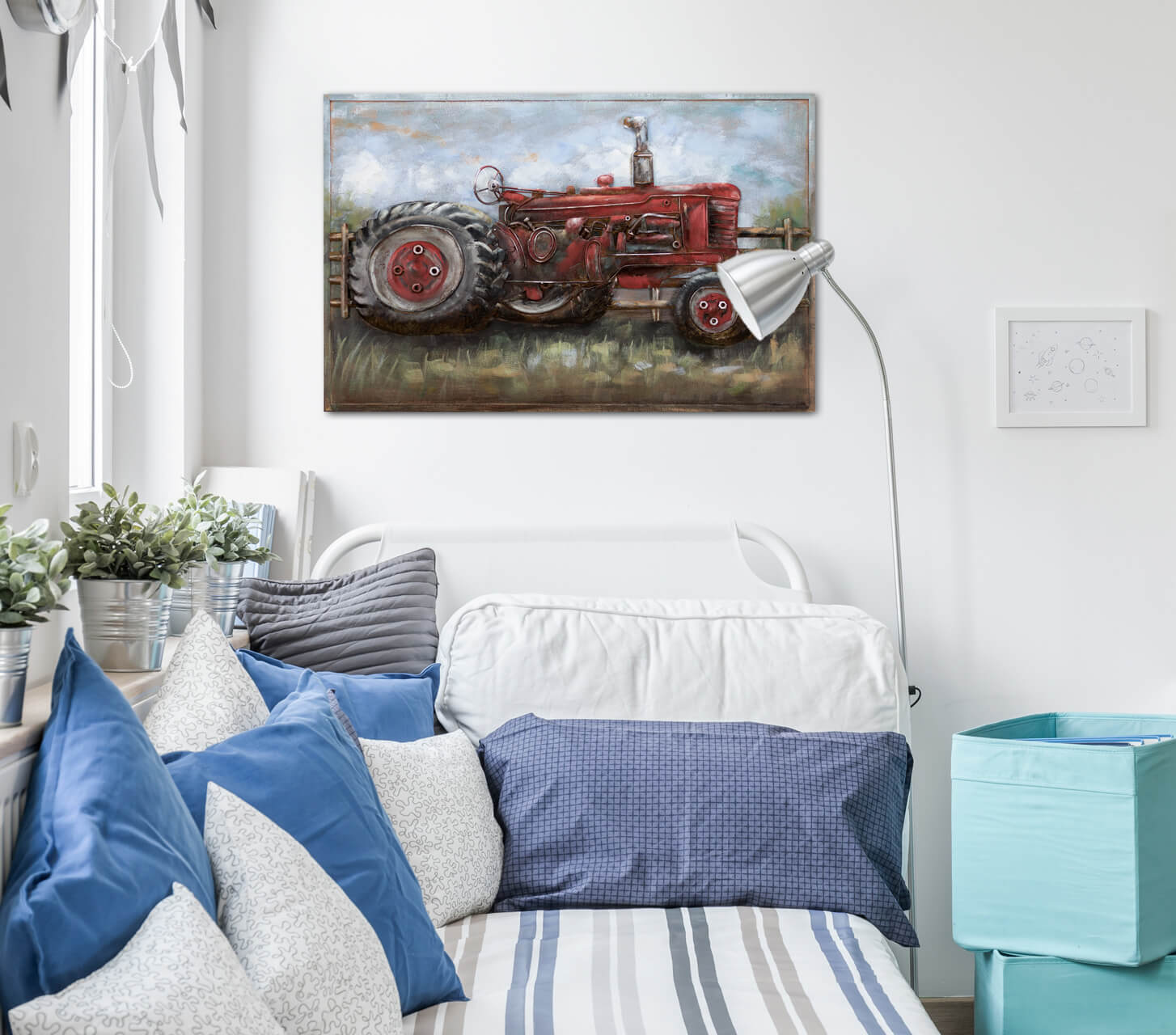 Kunstloft Cuadro En Metal Beautiful Country Life Artesanal 90x60x5cm Ebay