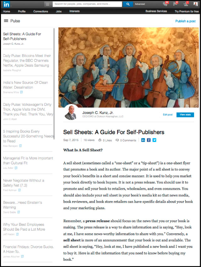 Sell Sheets An Intro Guide For New Self-Publishers
