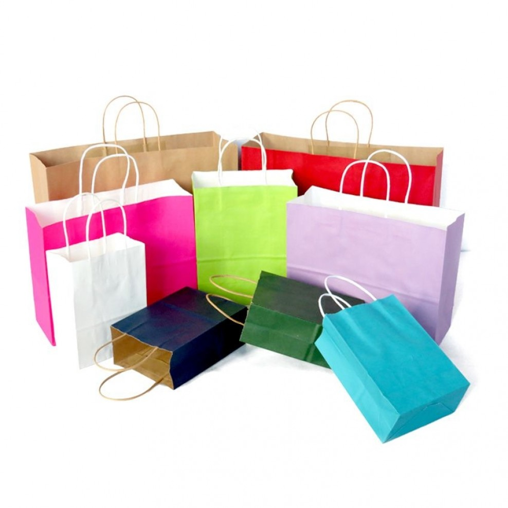 Paper Gift Bags Wholesale Kraft Paper Gift Totes Shopping Carrier Bags Wholesale Packaging