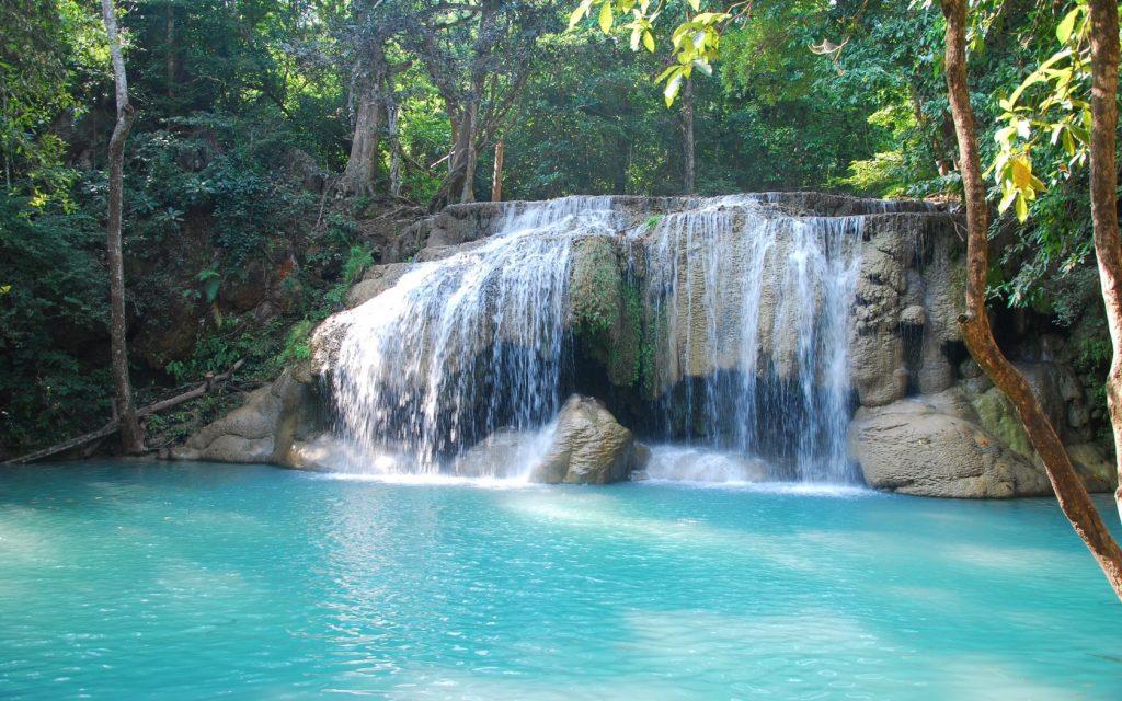 Kuang Si Falls Hd Wallpaper Environs De Kanchanaburi Le Parc National D Erawan Ses