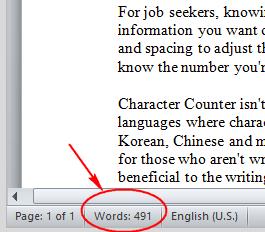 cara menghitung kata di word