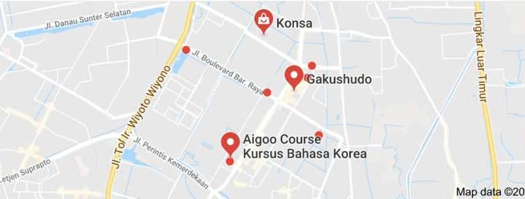 lokasi kursus bahasa korea di kelapa gading