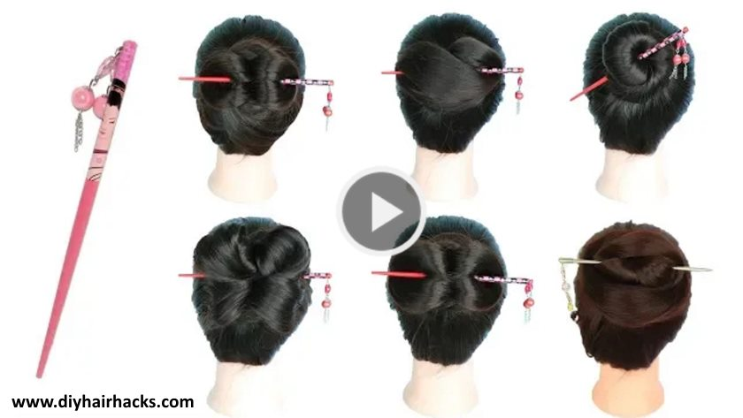 Cute Juda Hairstyles 6 Easy Juda Hairstyle With Bun Stick Kurti Blouse