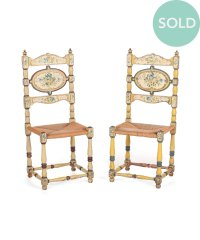 Antique Painted Chairs, Set of Two | Kurtz Collection
