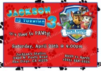 Paw Patrol Birthday Invitations | Kustom Kreations