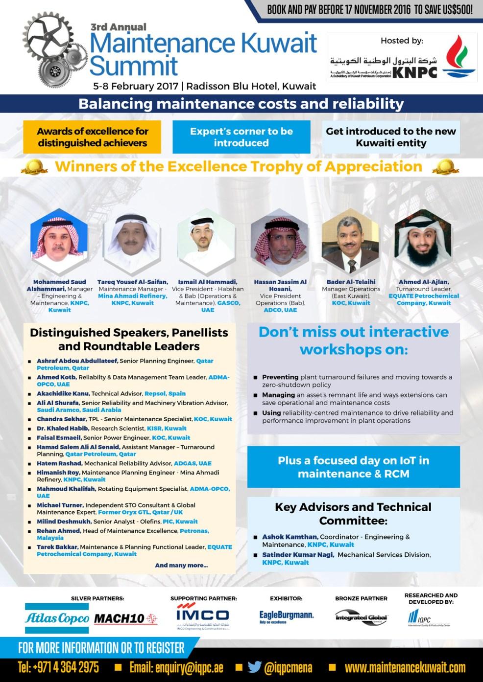 Maintenance Kuwait Summit 2017