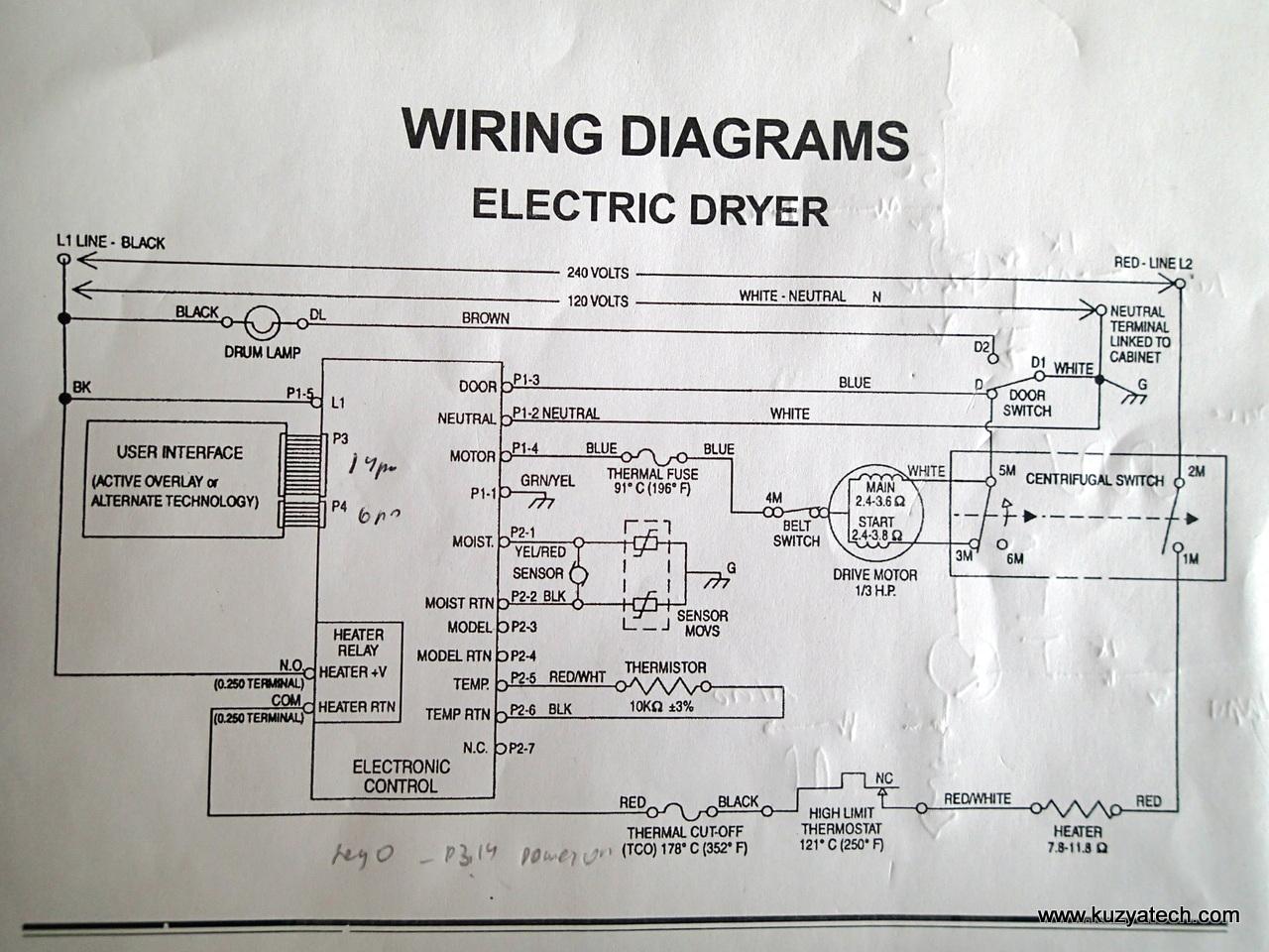 whirlpool dryer schematic