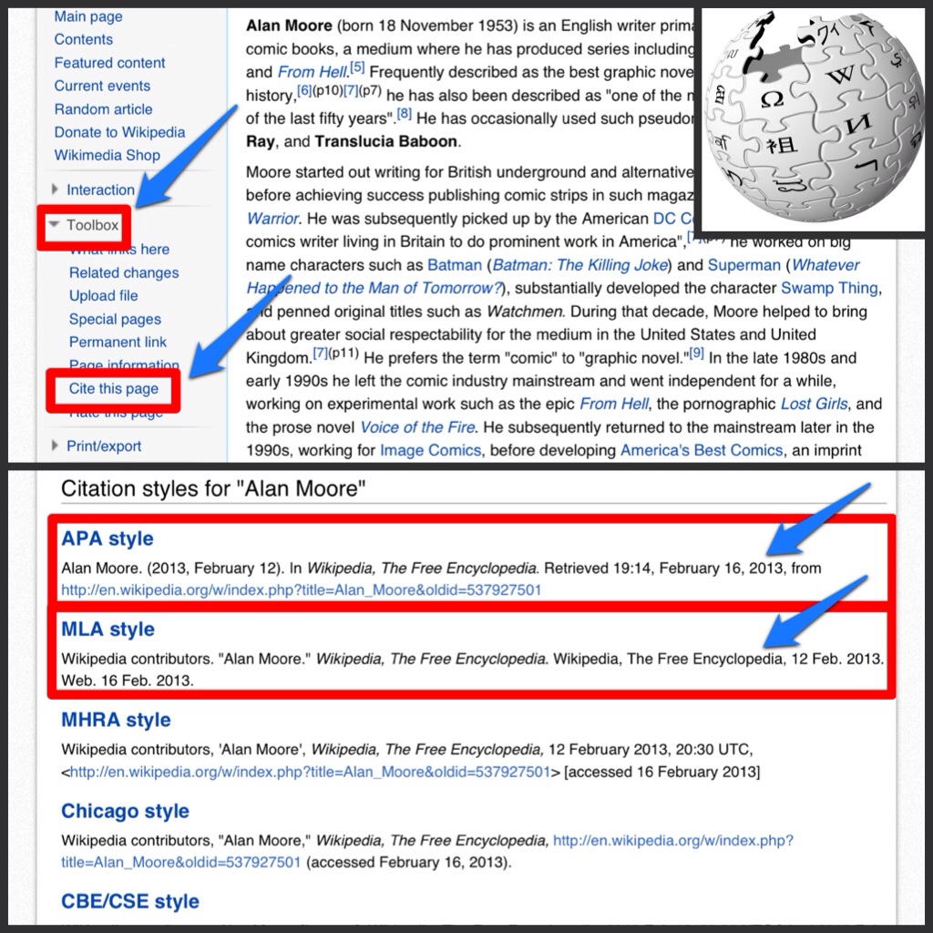 how to cite wikipedia in mla