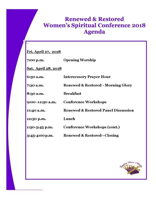 Conference Agenda - Kingdom Vision Ministries - conference agenda
