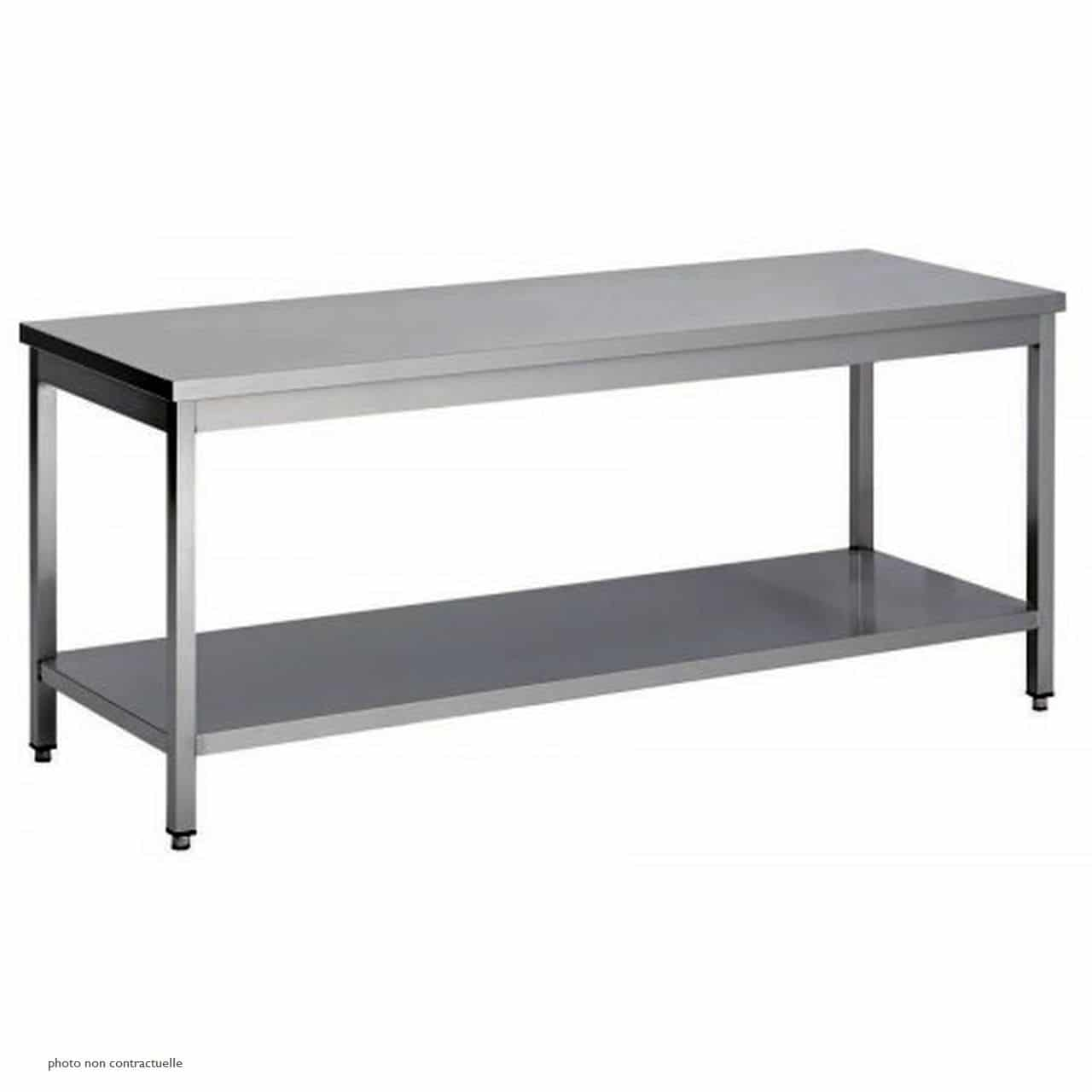 Etagere Inox Occasion Table Centrale étagère Largeur 700 Mm Kvt Occasions