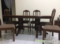 6 chair Malaysian Wood Dining Table in Kuwait - FridayMarket