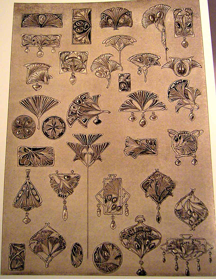 Jugendstil Kunst Else Strauss Art Nouveau Ginkgo Designs
