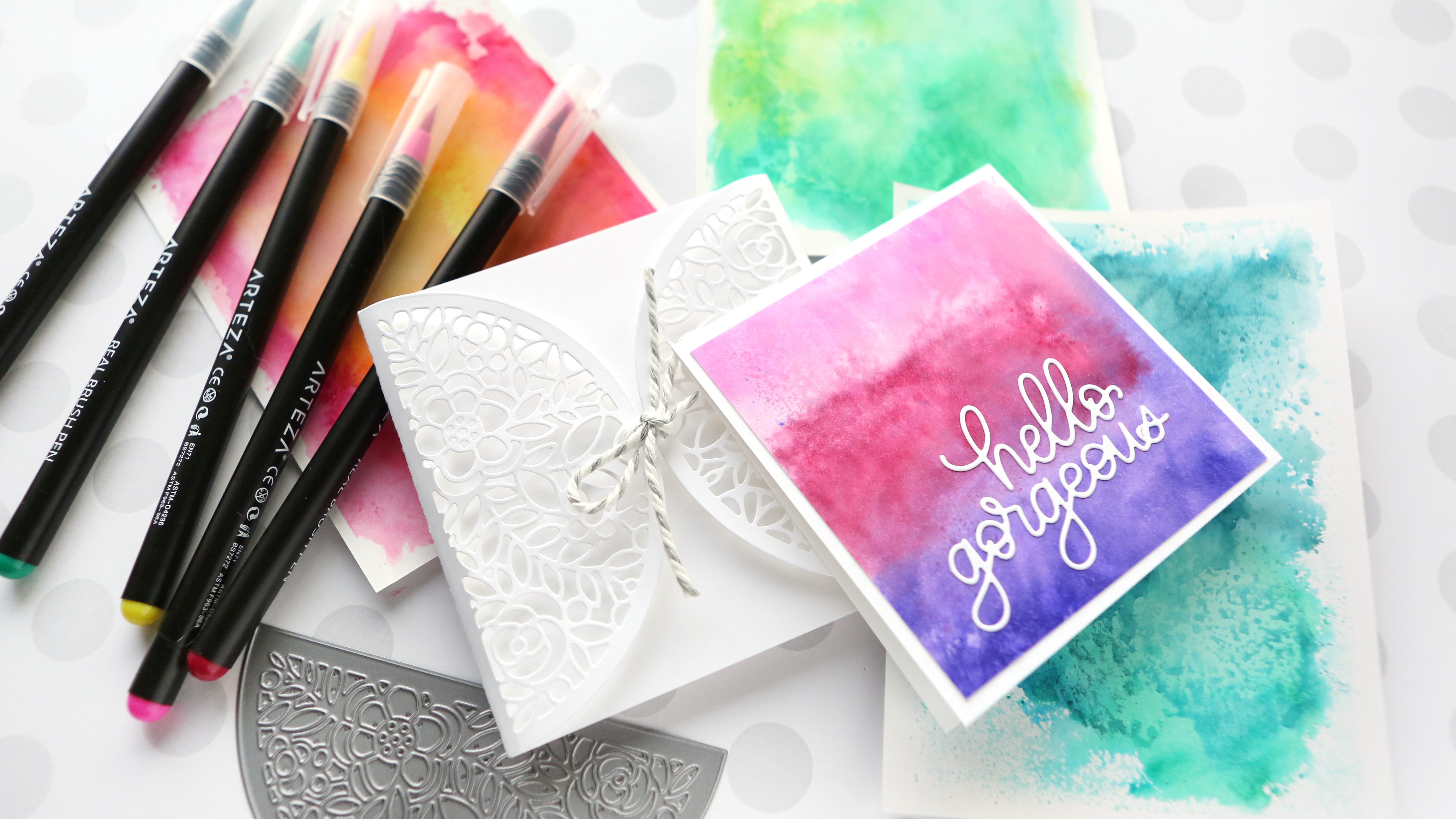 Arteza Address Easy Watercolor Backgrounds With Watercolor Markers
