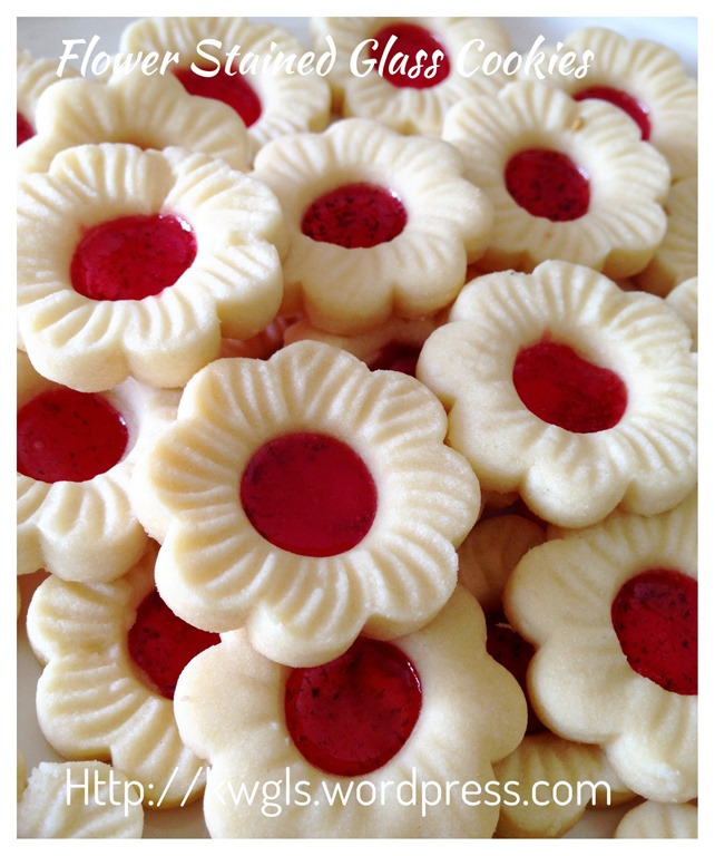 Cherry blossom stained glass cookies guai shu shu for Stained glass cookie recipe