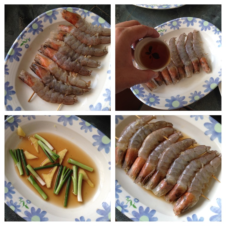 how to cut prawns for cooking