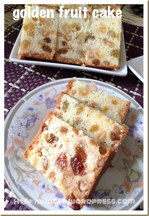 Eggless, Fatless 3 Ingredients Simple Fruit Cake (3 种食材简易杂果蛋糕)