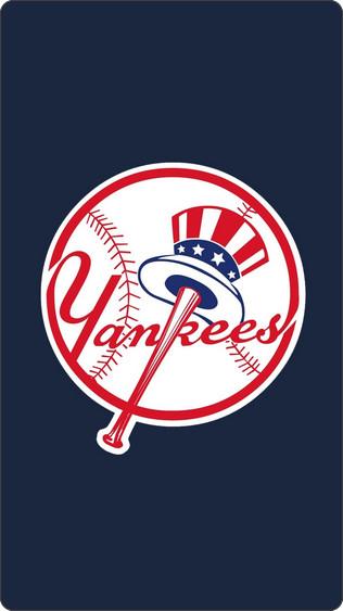 New York Yankees Wallpaper For Iphone 5 ニューヨークヤンキースロゴのiphone5壁紙