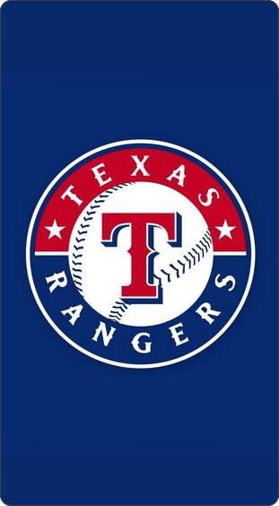 Texas Rangers Wallpaper For Iphone 6 テキサス・レンジャーズロゴのiphone5 Iphone4s壁紙
