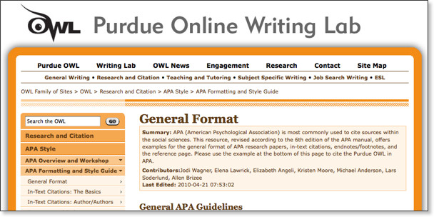 APA 6th Ed - Citing Sources - LibGuides Home at Los Angeles City