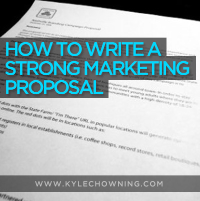How to Write a Strong Marketing Proposal w/FREE Template