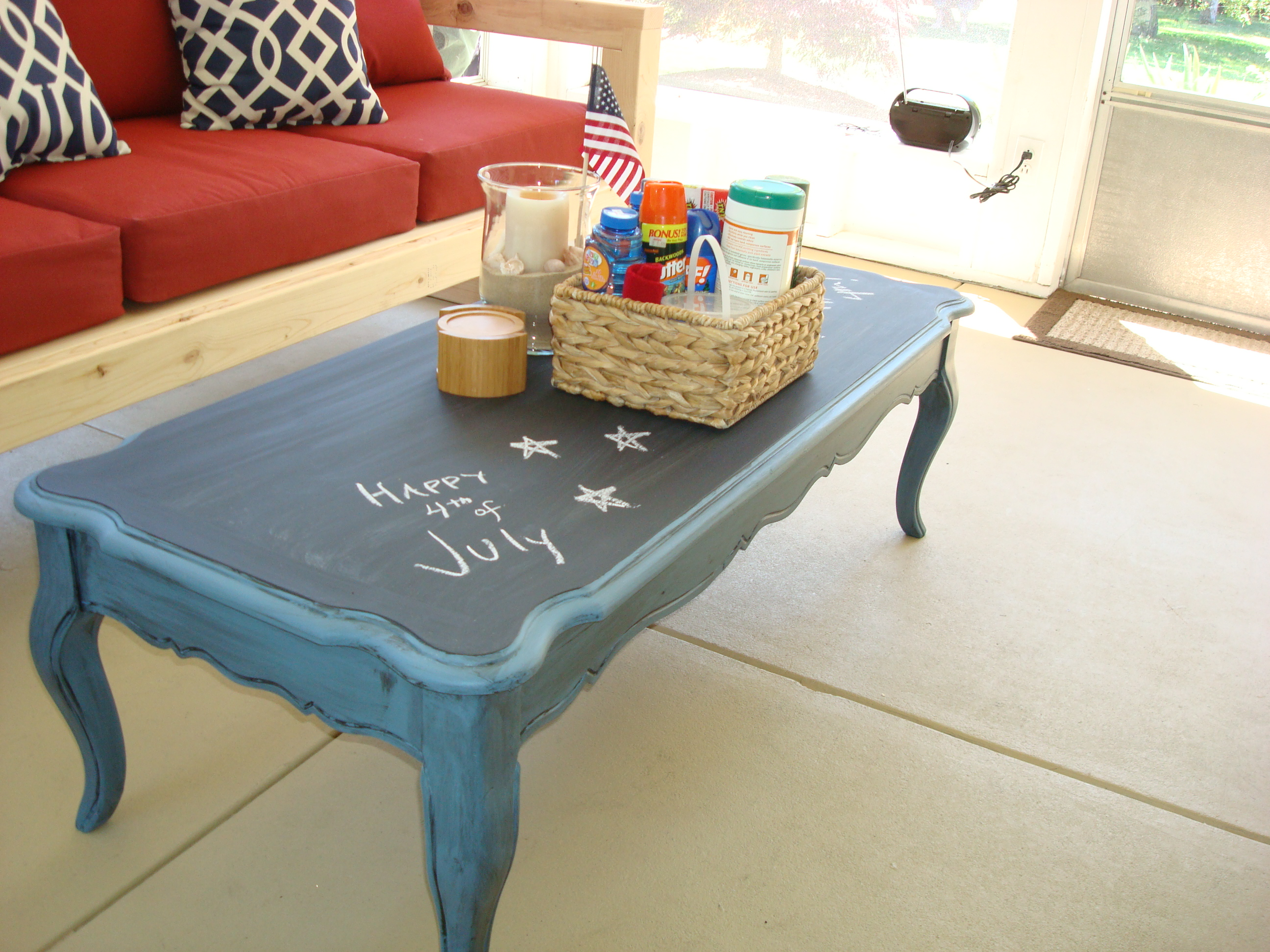 Table Painting Designs Stolen Idea Chalkboard Top Coffee Table Kyle Not Really