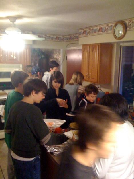 The food line