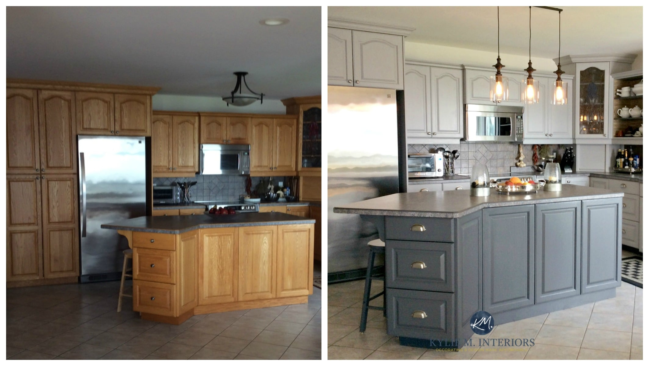Images Of Painted Kitchen Cabinets Our Painted Maple Cabinets 2 Years Later