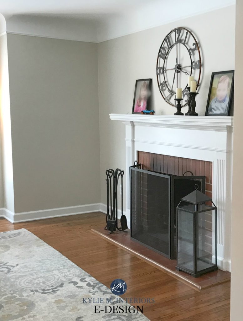 Brick Fireplace Wood Mantel The Best Paint Colours For Walls To Coordinate With A Brick Fireplace