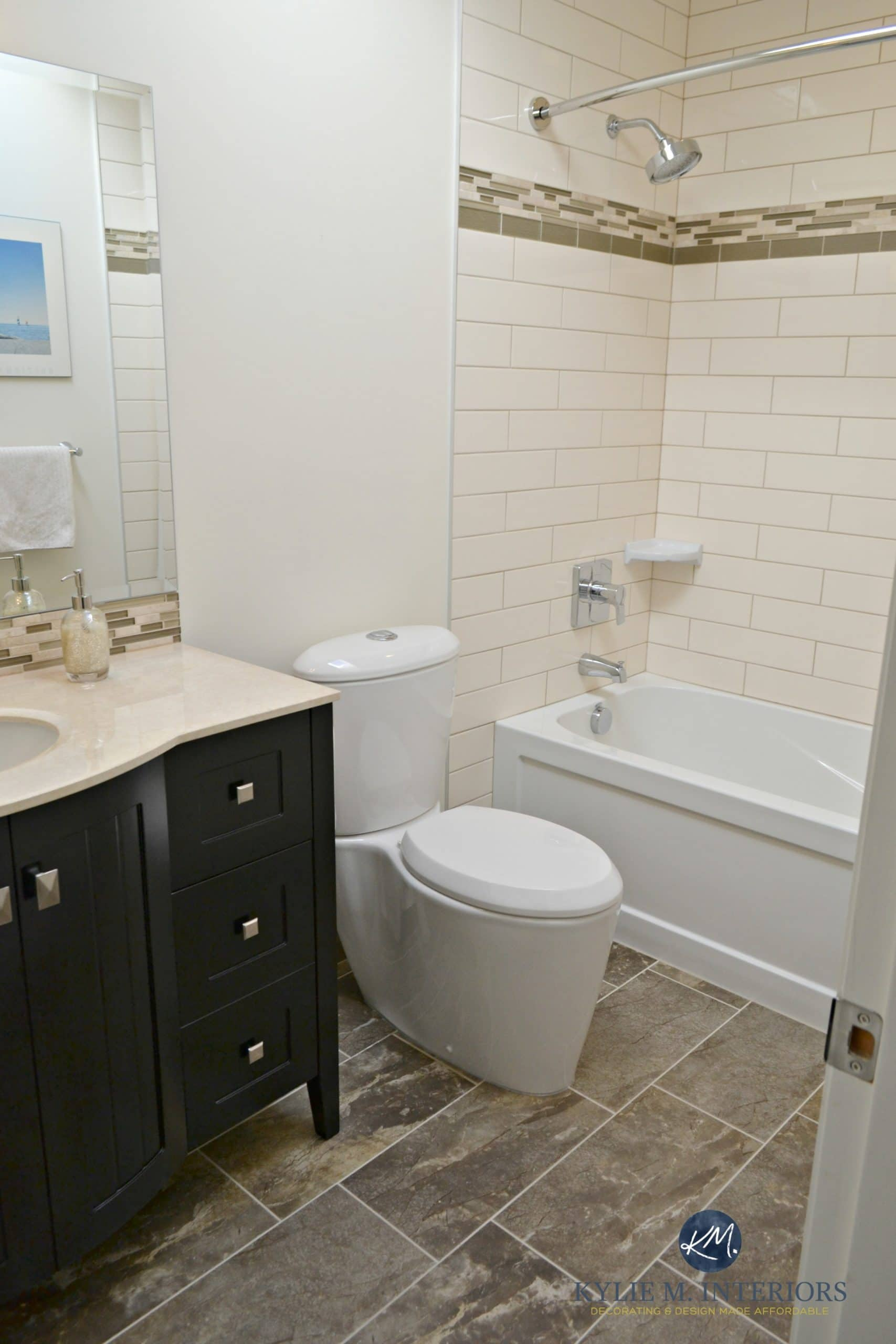 Subway Tiled Bathrooms Update To An Almond Bathroom With Cream Elongated Subway Tiles