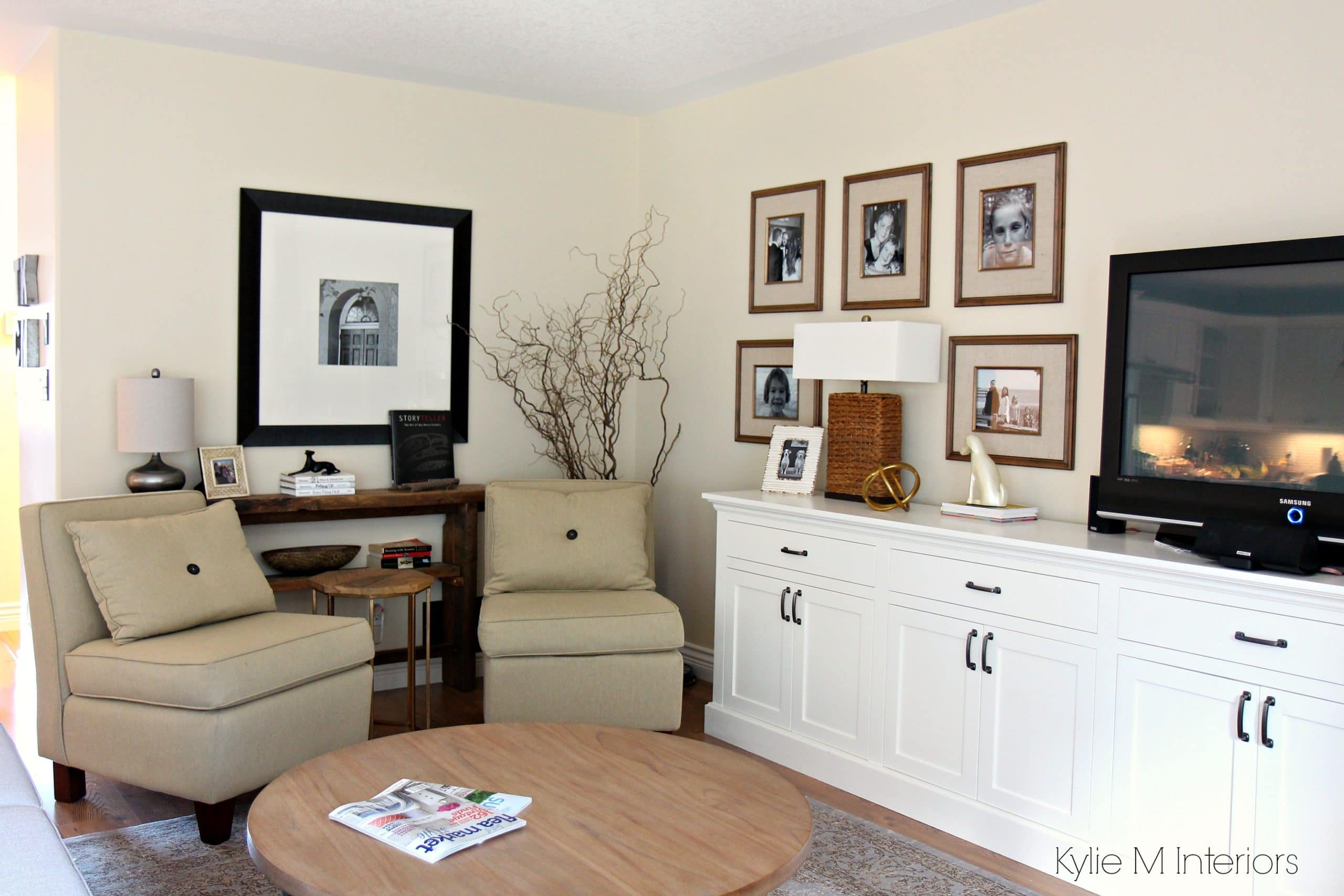Hanging Art Above Tv Living Room Layout With 2 Chairs Family Photo Gallery