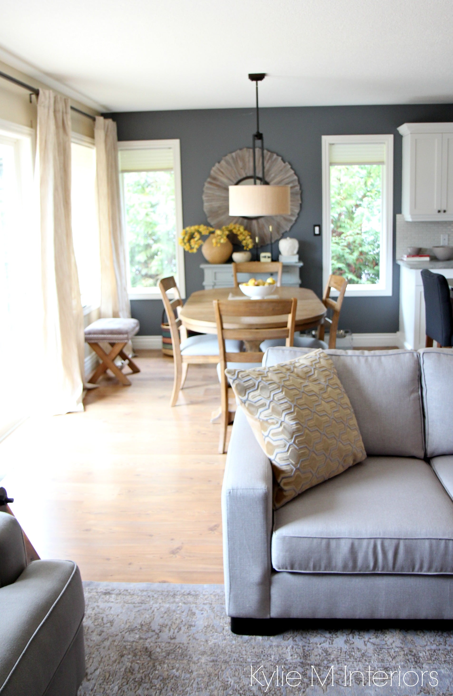 My Yellow Farmhouse Blog Modern Country Or Farmhouse Style Open Concept Dining Room