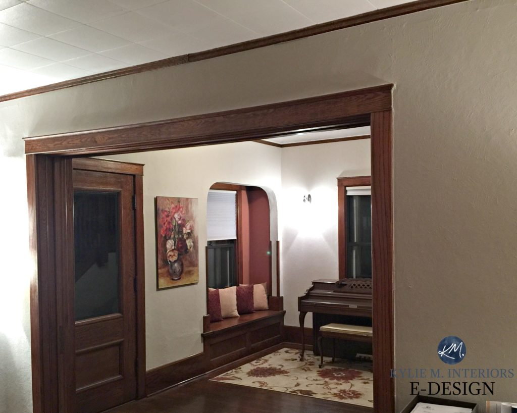 Painted Wood Ceilings The Best Neutral Paint Colours To Update Dark Wood Trim