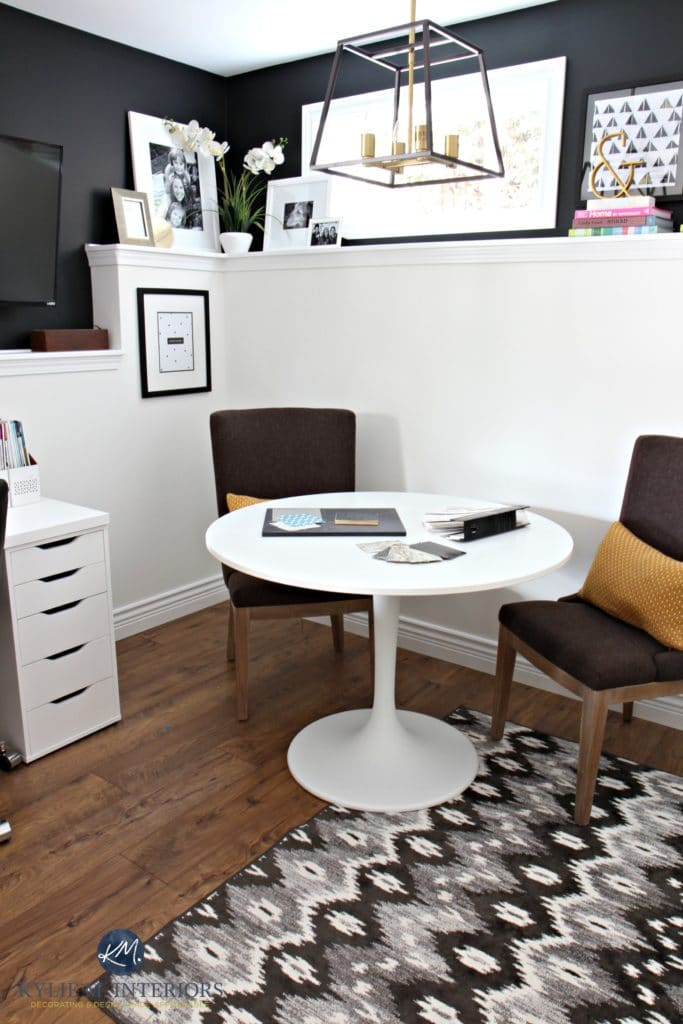 Ikea Alex Drawer Desk My Home Office Makeover…a Black And White Affair
