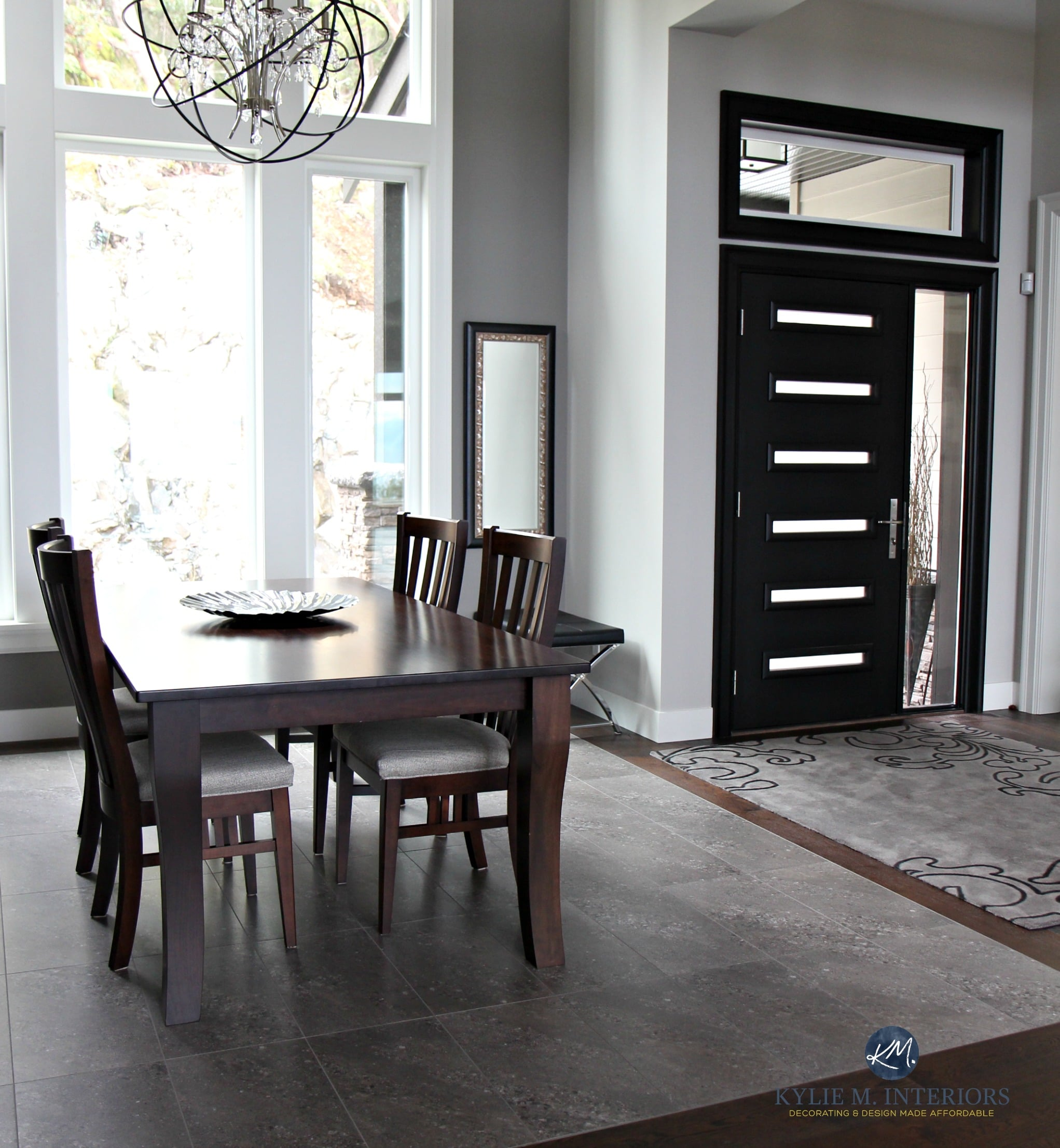 Dining Room Entry Designs Dining Room And Entryway Foyer Black Modern Front Door