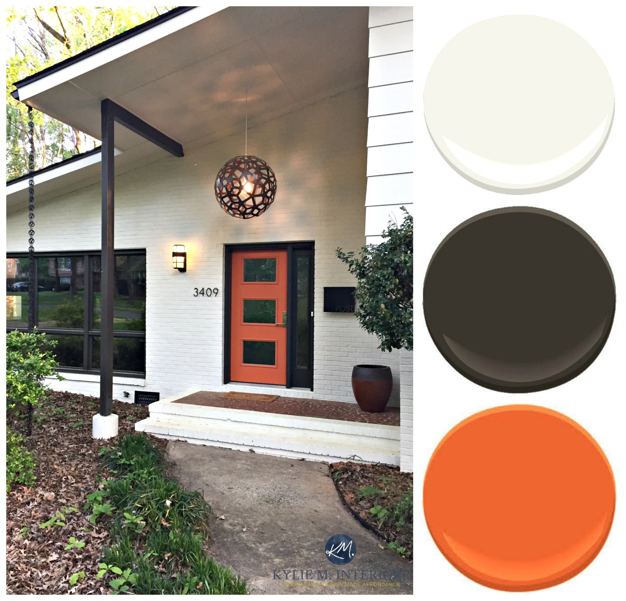 Orange Exterior Paint Exterior Paint Palette For Brick And Siding On A Split Level Mid