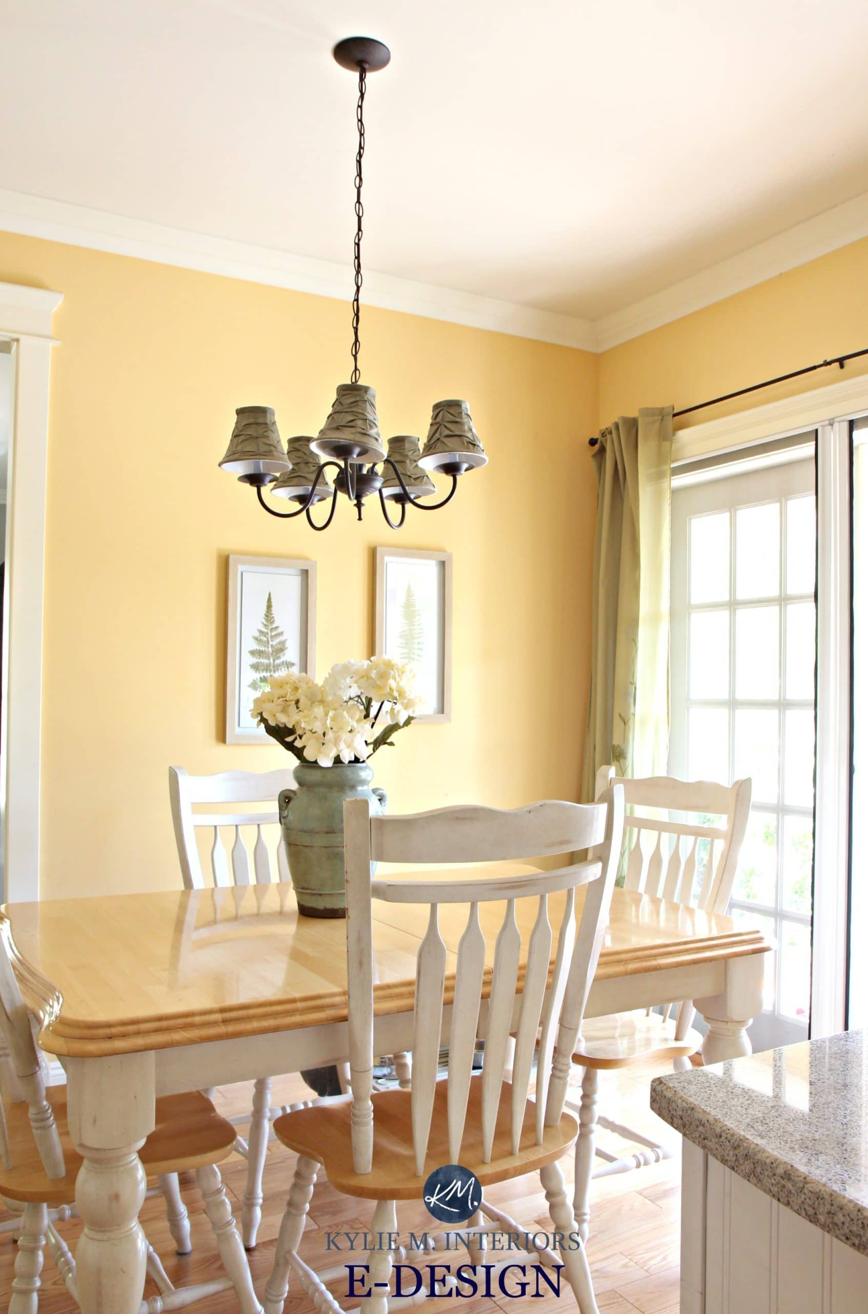 My Yellow Farmhouse Blog Benjamin Moore Suntan Yellow Eating Nook In Country Style