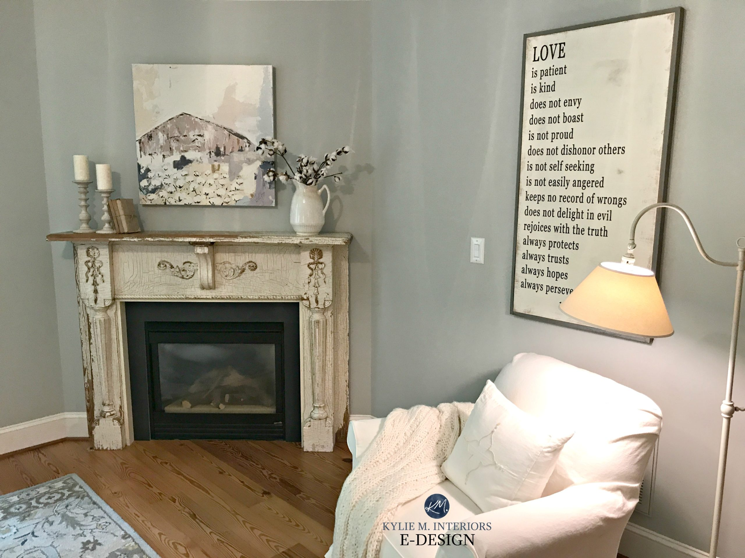 Old Bedroom Fireplace Ideas Benjamin Moore Arctic Gray In Bedroom With Fireplace Old