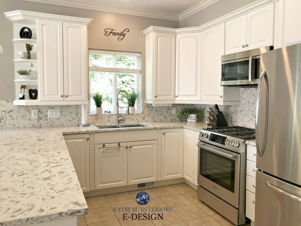Photos Of White Kitchen Cabinets E Design An Oak Cabinet Makeover With White Dove