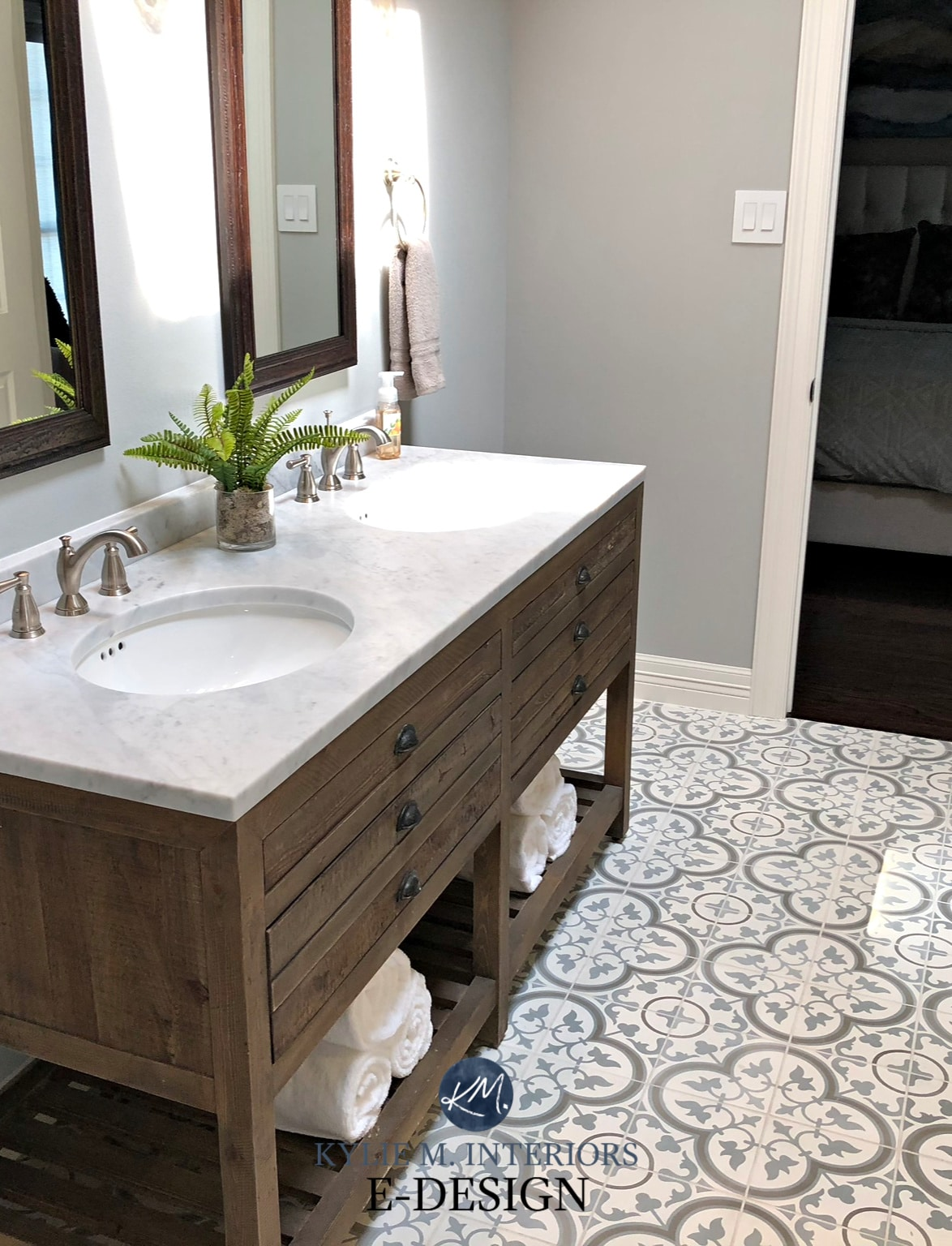 E Design A Gorgeous Farmhouse Bathroom With Sw Argos