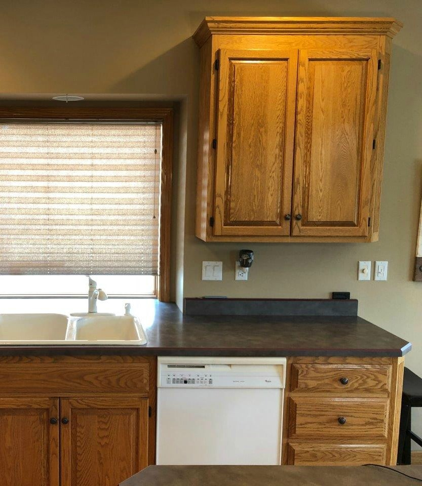 Tips And Ideas How To Update Oak Or Wood Cabinets Paint Stain And More