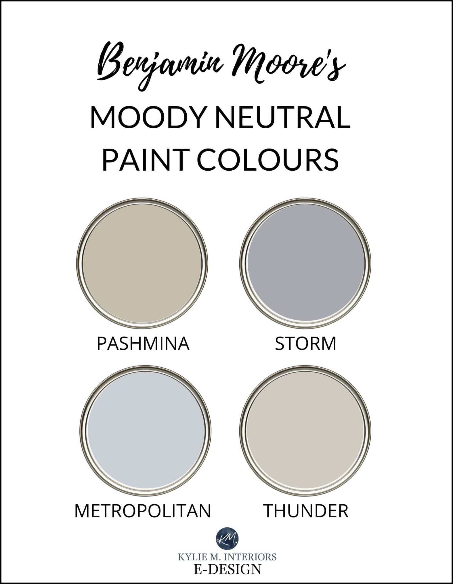 The Best Beige Greige Taupe Gray Paint Colours Benjamin Moore Affinity Kylie M Interiors
