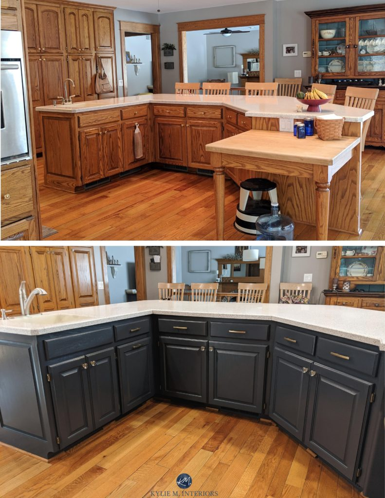 Should I Paint My Oak Cabinets Or Keep Them Stained Questionnaire Kylie M Interiors