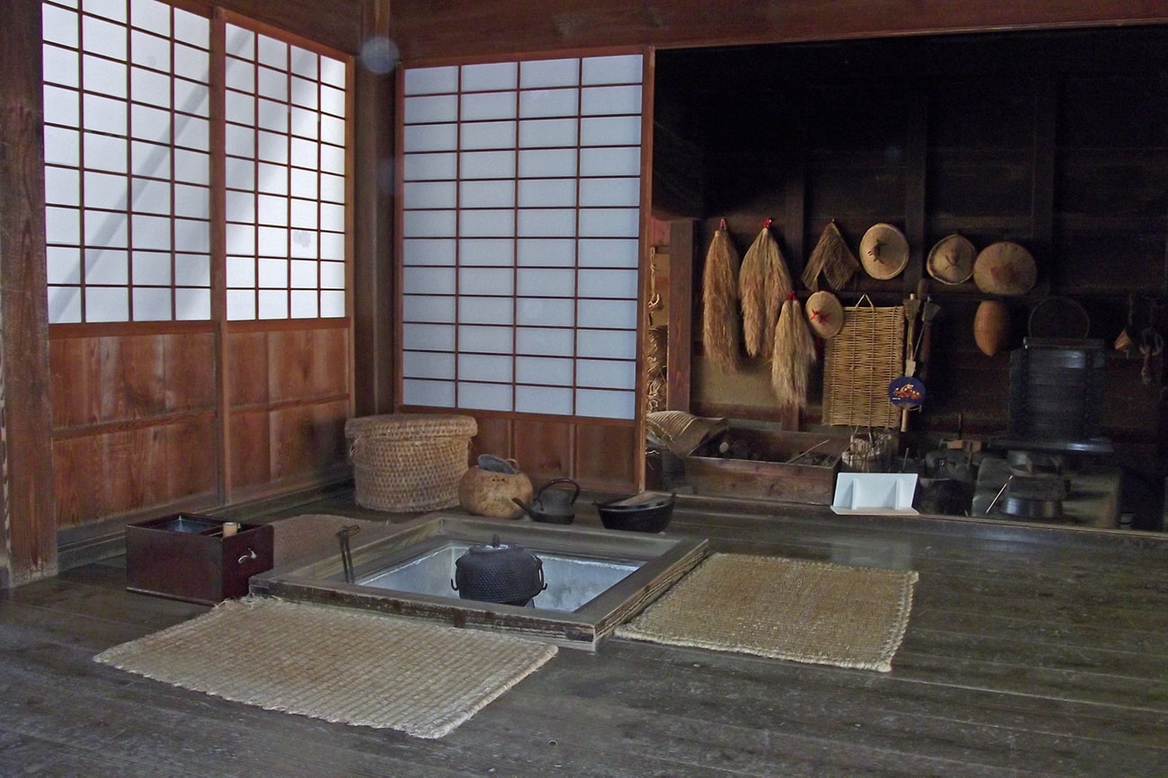 What Is A Traditional Japanese Irori Table Used For Kyoto Inn Tour